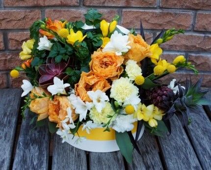 цветы в коробку