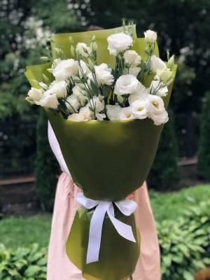 Букет 21 белоснежных эустом - заказ и доставка цветов Киев