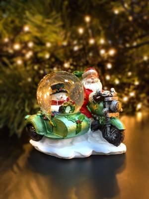 Снежный шар Санта на мопеде в ассортименте - заказ и доставка цветов Киев