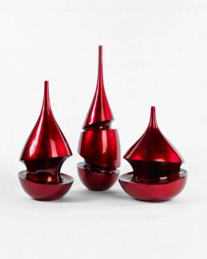 Декор бутылка красная 50 см, 1 шт - заказ и доставка цветов Киев