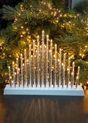 Новогодний декор Огоньки для подоконника серебр... - заказ и доставка цветов Киев