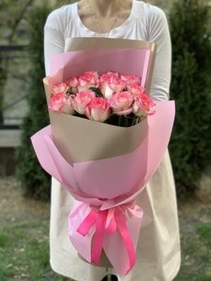 Букет 15 роз Джумилия - заказ и доставка цветов Киев