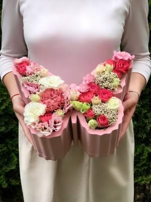 Цветы в коробки