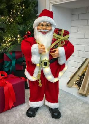 Новогодняя тканевая фигурка Санта красный  20 L... - заказ и доставка цветов Киев