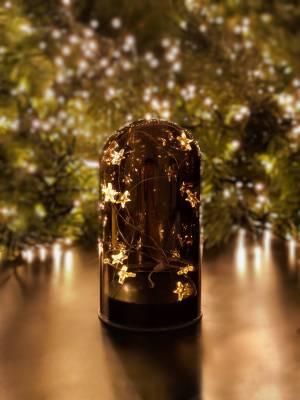 Колпак-светильник Звездочки серый, 12 см - заказ и доставка цветов Киев