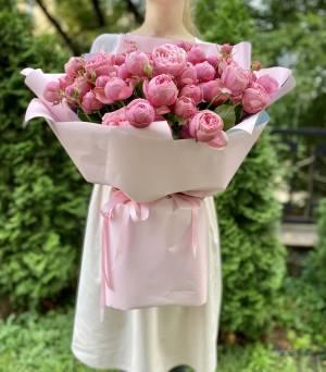 БУКЕТ 25 РОЗ СПРЕЙ СИЛЬВИЯ ПИНК - заказ и доставка цветов Киев
