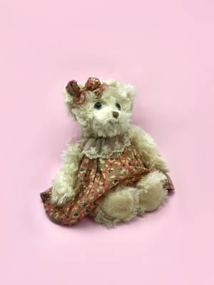 Игрушка Мишка в платье Мая, 25 см - заказ и доставка цветов Киев