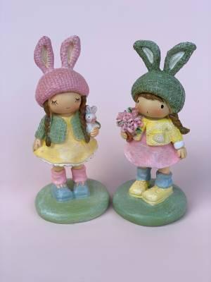 Девочка в шапке с зайчими ушками, 6*6*13 см - заказ и доставка цветов Киев