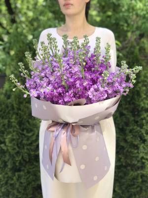 Букет 31 лиловая маттиола - заказ и доставка цветов Киев