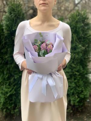 Букет 7 лиловых гиацинтов - заказ и доставка цветов Киев