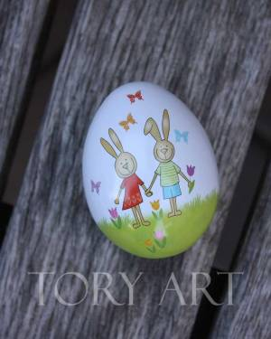 Яйцо метал веселый кролик 60x52x53 mm, шт - заказ и доставка цветов Киев