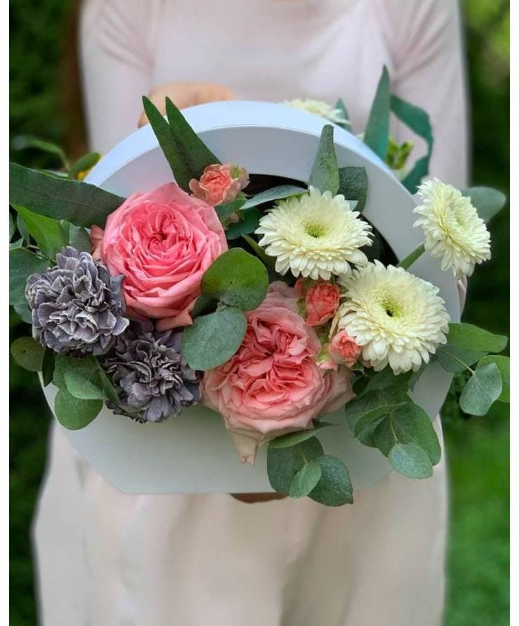 """Цветы в коробке """"Взаимная любовь"""""""