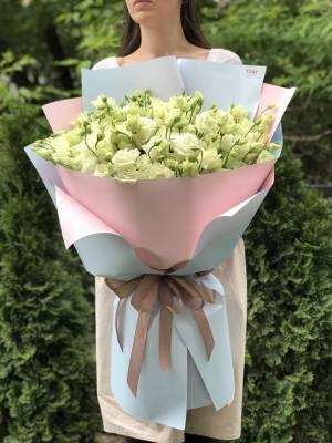 Букет 21 белая эустома - заказ и доставка цветов Киев