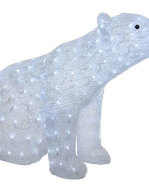Светодиодный Медведь холодный белый 83*35*61 см - заказ и доставка цветов Киев