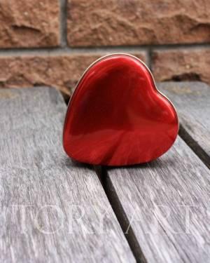 Коробка-сердце красный метал - заказ и доставка цветов Киев