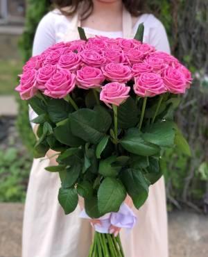 Букет 51 розовая роза - заказ и доставка цветов Киев