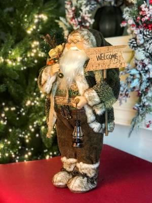 Санта в коричневой шубе 45cm - заказ и доставка цветов Киев