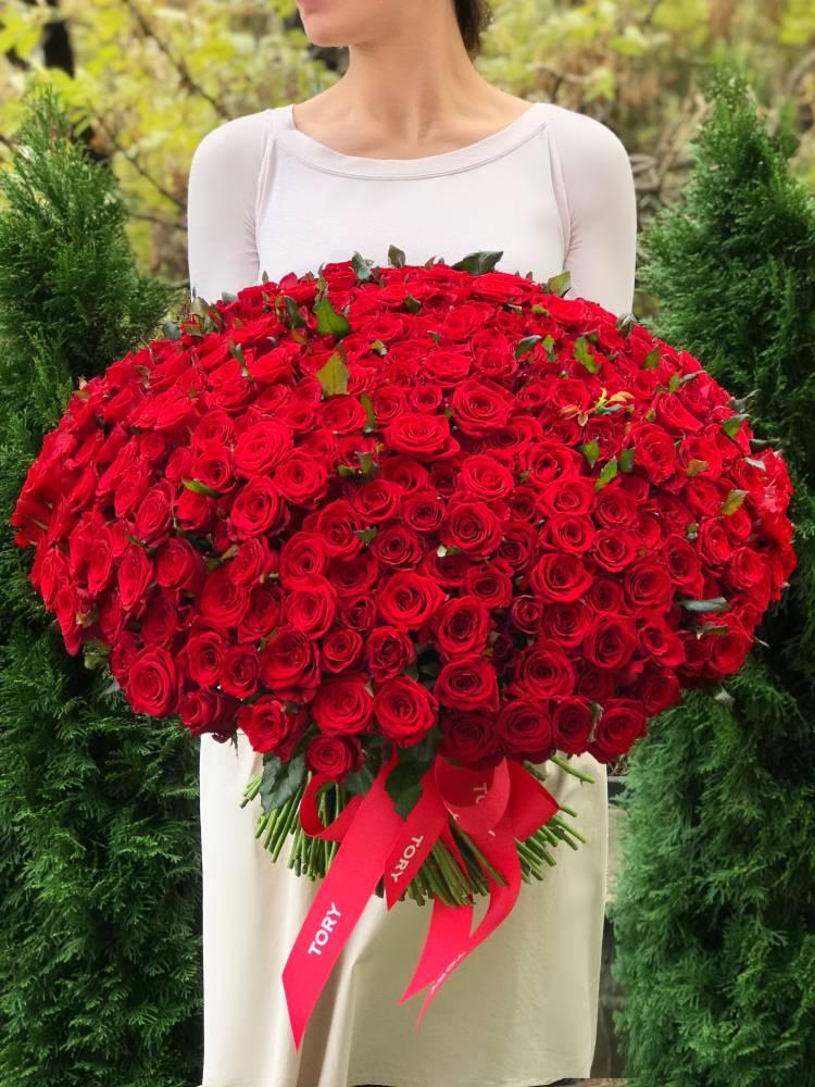 Букет 301 красная роза
