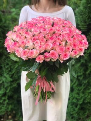 Букет 101 роза Джумилия - заказ и доставка цветов Киев
