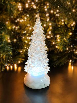 Ель снежная с подсветкой и таймером, 21.5 см - заказ и доставка цветов Киев