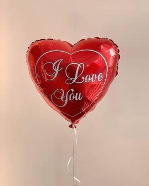 Шар фольгированный I Love You - заказ и доставка цветов Киев