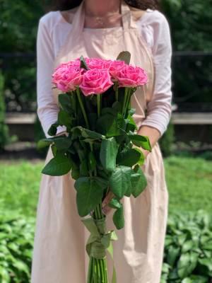 Букет 21 розовая роза - заказ и доставка цветов Киев