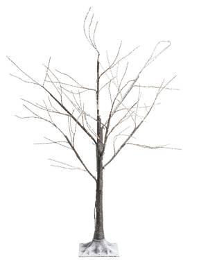 Дерево коричневое со снегом и LED огнями, 180 см - заказ и доставка цветов Киев