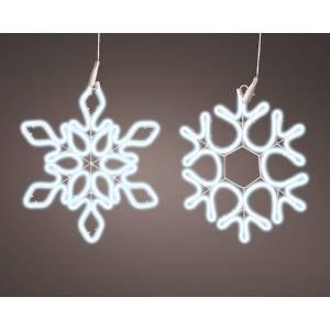 Неоновая LED снежинка холодный белый 54*69 см - заказ и доставка цветов Киев