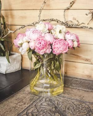 Ваза стеклянная цилиндр h30 d25 - заказ и доставка цветов Киев