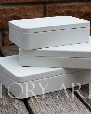 Коробка плоская метал бежевый, - заказ и доставка цветов Киев