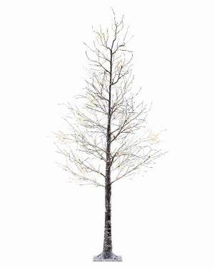 Дерево коричневое снежное с LED огнями, 125 см - заказ и доставка цветов Киев