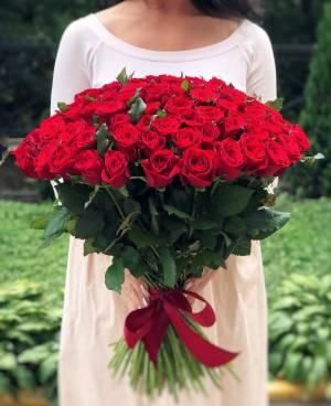 Букет 101 красная роза - заказ и доставка цветов Киев