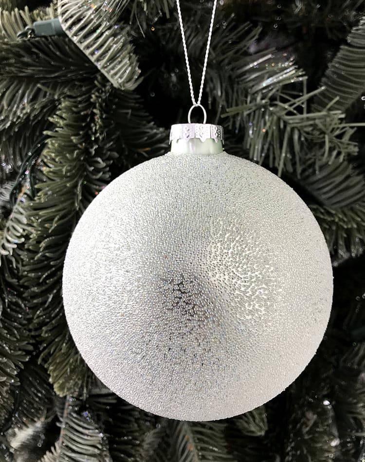 Стеклянный шар, покрытый мелкими бусинами, 10 см