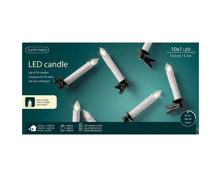 Светодиодные свечи с пультом управления 13.5 см