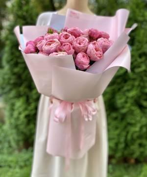 БУКЕТ 19 РОЗ СПРЕЙ СИЛЬВИЯ ПИНК - заказ и доставка цветов Киев