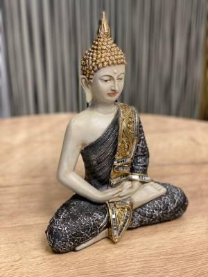 Декор Будда в позе лотоса черный/золотой - заказ и доставка цветов Киев