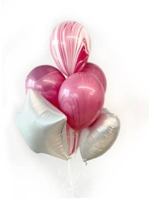Букет шаров Помадно-серебряный - заказ и доставка цветов Киев