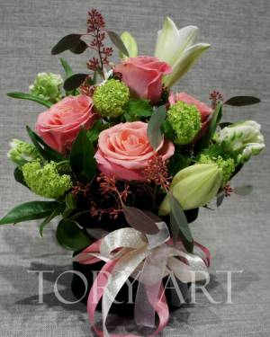 Цветы в бархатном мешке