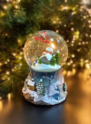 Музыкальный снежный шар с движущимся самолетом - заказ и доставка цветов Киев