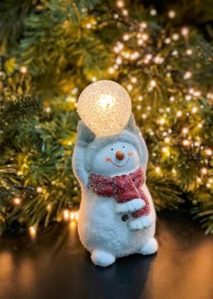 Новогодний декор Снеговик со снежкой в ассортим... - заказ и доставка цветов Киев