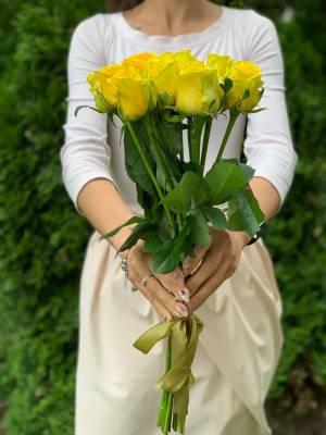 Букет 11 Желтых роз - заказ и доставка цветов Киев