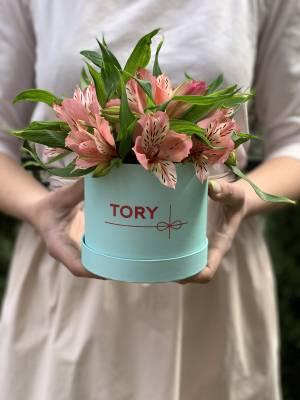 Alstroemeria in a Hat Box