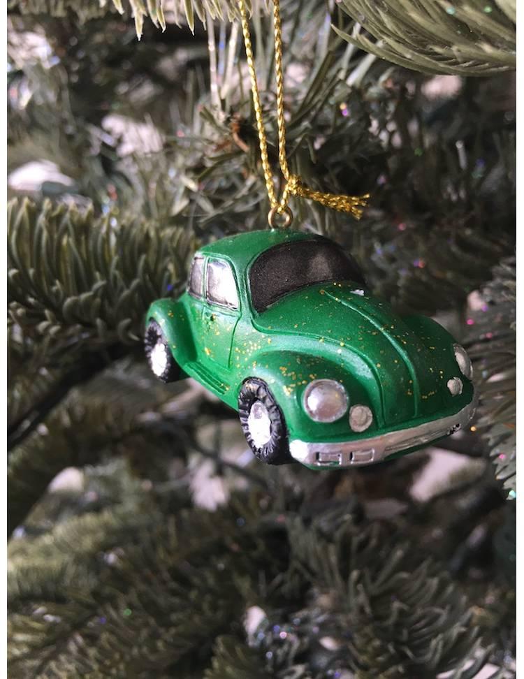 Ёлочное украшение Машинка красн/зелен в ассортименте, 6 см