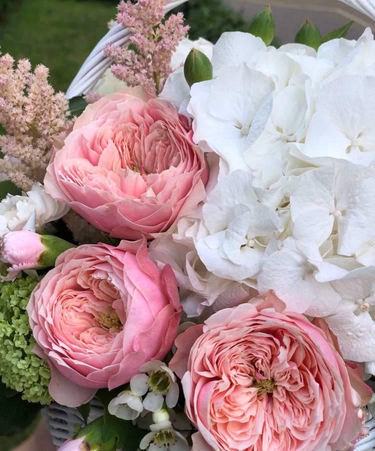 Цветы в корзине