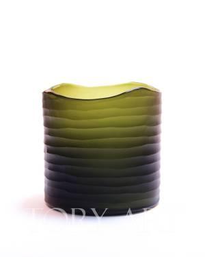 Ваза циліндр темно-зелена, 22 см - заказ и доставка цветов Киев