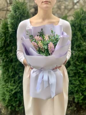 Букет 11 лиловых гиацинтов - заказ и доставка цветов Киев