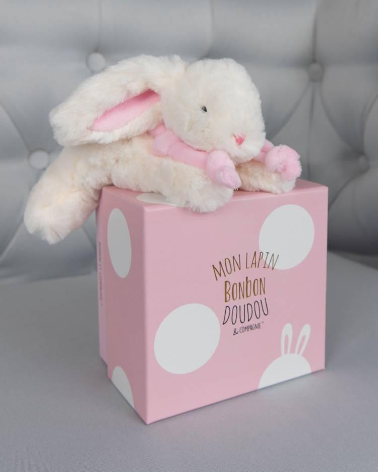 """Мягкая игрушка кролик """"Бон-Бон розовый"""""""