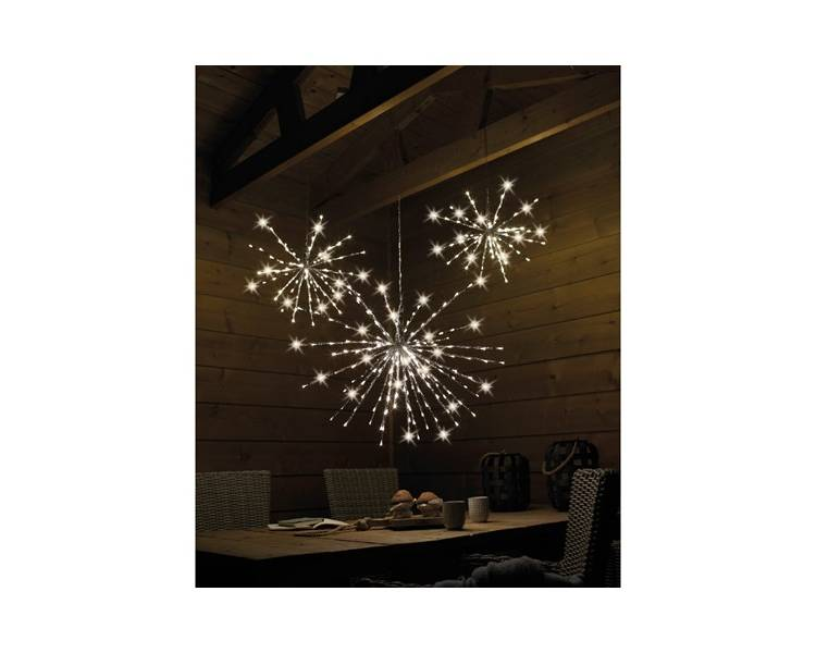 Светодиодная Полярная звезда тёплый белый 45 см 72 LED