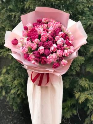 Букет 101 тюльпан микс - заказ и доставка цветов Киев