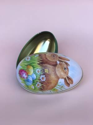 Яйцо метал два кролика М 112x69x69mm, шт - заказ и доставка цветов Киев